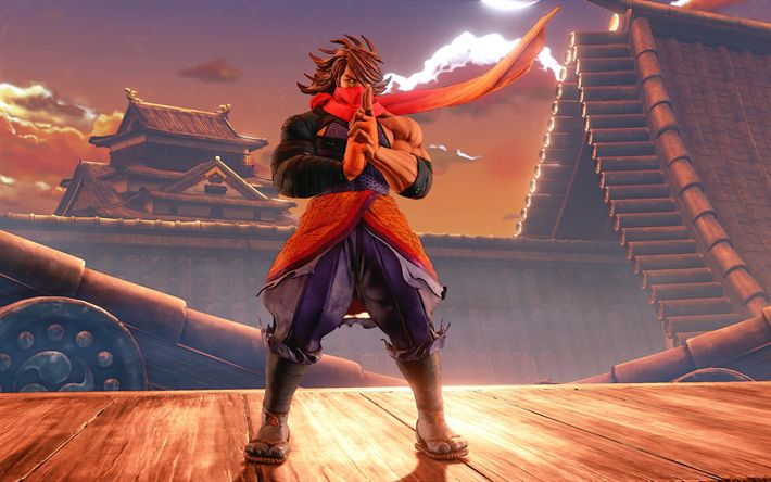 Download wallpapers Guy Zeku, 4k, art, fighting game, Street Fighter V