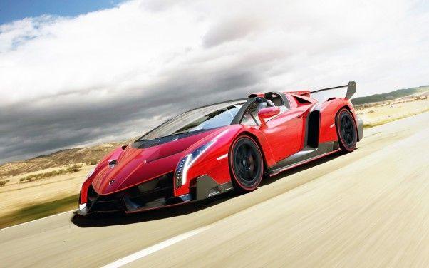 Download HD Red Lamborghini Veneno Roadster Wallpaper | 3D Wallpaper