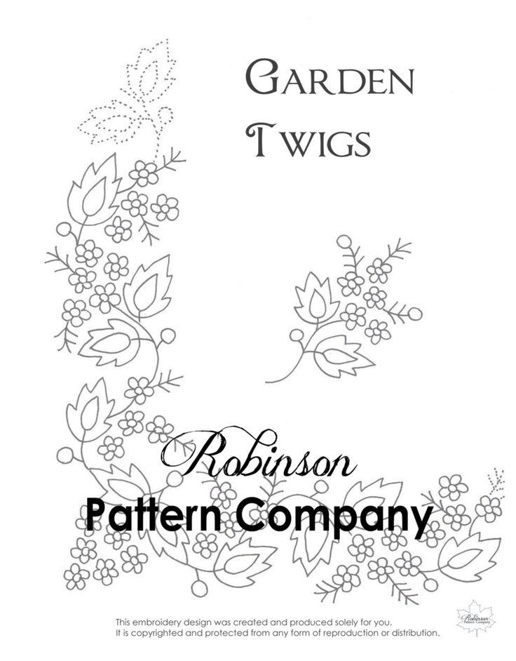 Garden Twigs Hand Embroidery pattern