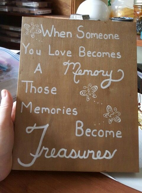 Pine Memory Canvas In honour of my Father In Law. ❤