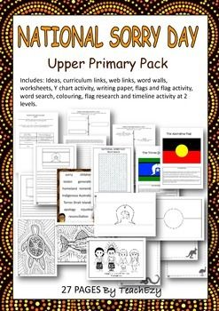 Includes: Ideas, curriculum links, web links, word walls, worksheets, Y chart activity, writing paper, flags and flag activity, word search, colouring, flag research and timeline activity at 2 levels.Suitable Years 5&627 PagesOur store also has an Early Learners Pack and a Middle Primary Pack available all at $3.50 each.