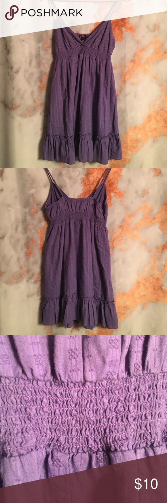 Purple sundress by forever 21 Purple baby doll style sundress, super comfy and flattering, lined Forever 21 Dresses Mini