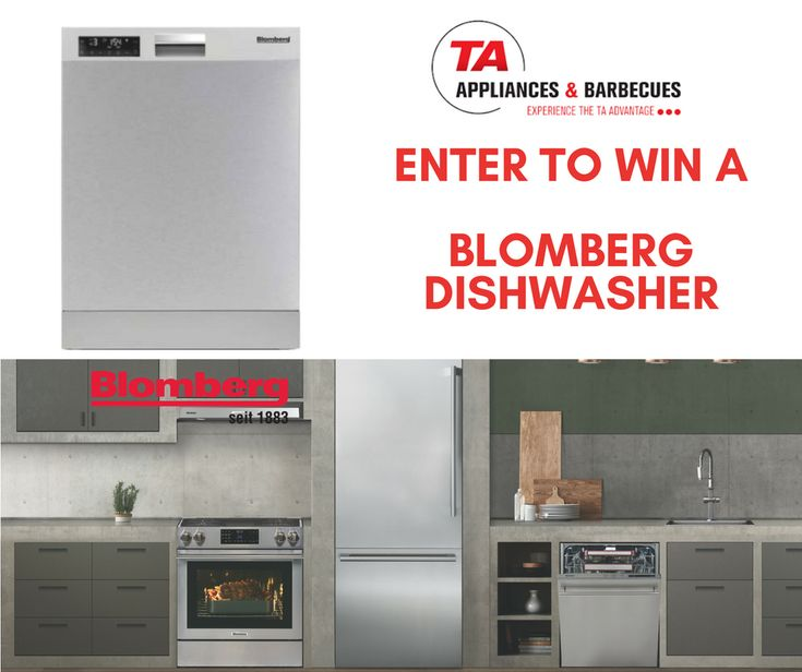 Enter to Win a Blomberg Dishwasher Valued at $1199.99