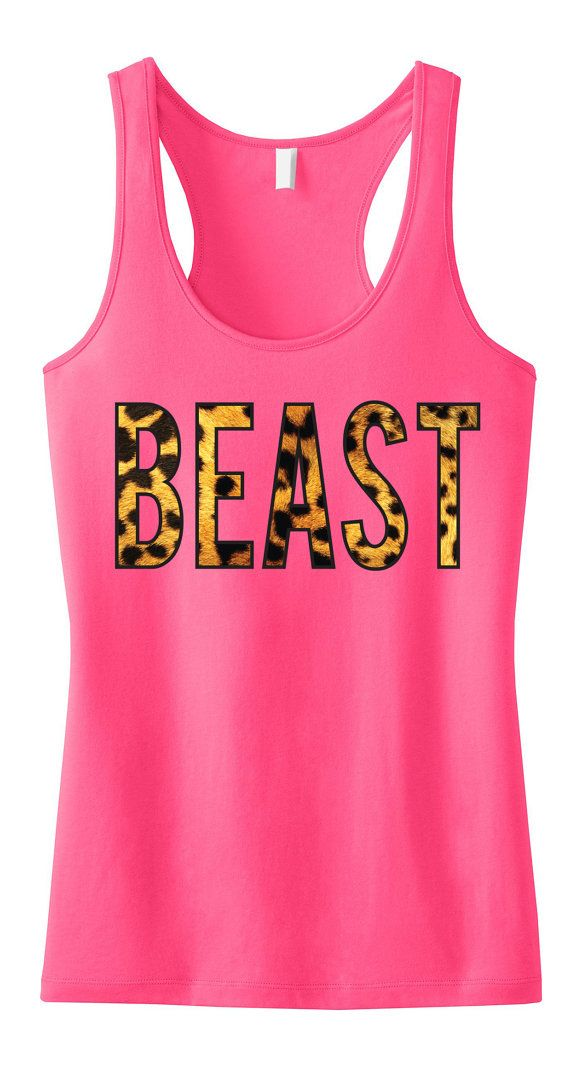 BEAST Pink #Workout #Tank Workout Clothing by #NobullWomanApparel, for only $24.99! Click here to buy http://www.etsy.com/listing/186585444/beast-pink-workout-tank-workout-clothing?ref=shop_home_active_9
