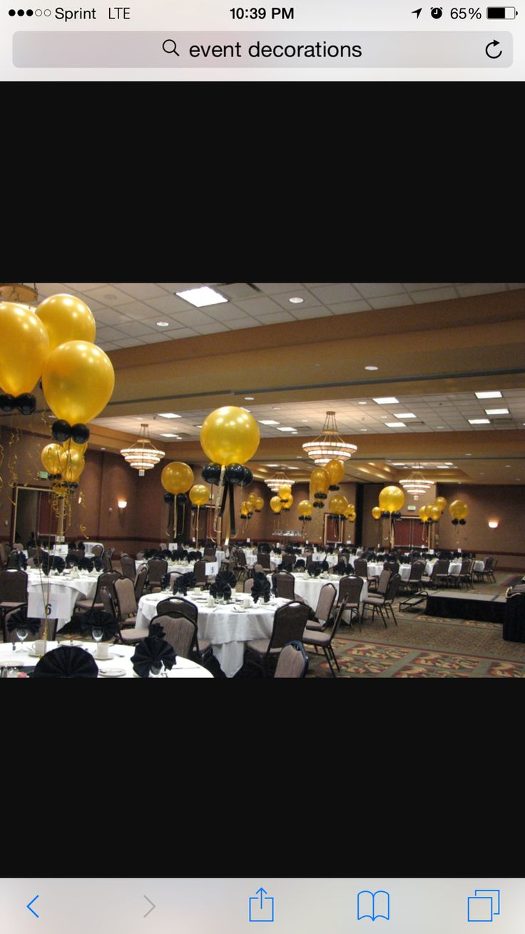 Image Gold and Black balloon decorations for event of Bouquets & Balloons