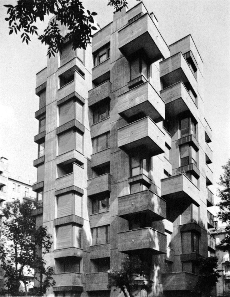 Vico Magistretti - Apartments, Piazzale Aquileia, Milan -1964-65