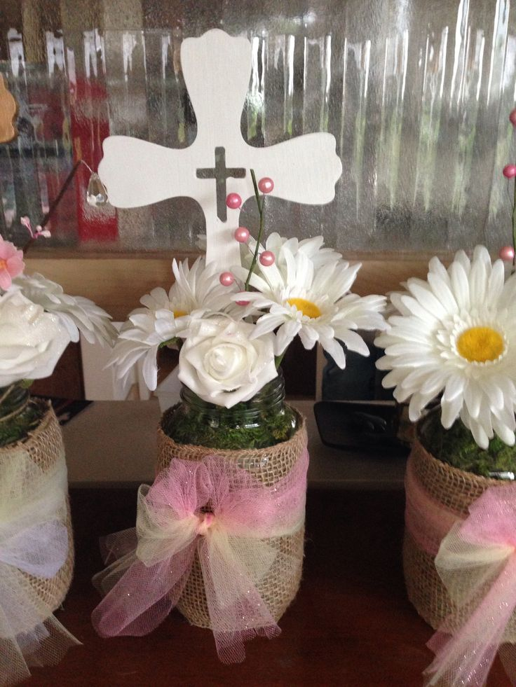 Baptism centerpieces baby shower baptism every occasion for Baby girl baptism decoration ideas