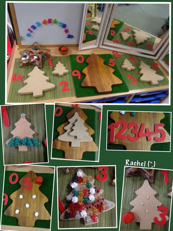 """Number fun with wooden Christmas trees - from Rachel ("""",)"""