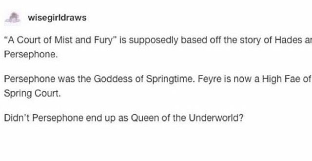 I can only assume this is from before ACOMAF and now that I've read it I'm laughing because it's so accurate