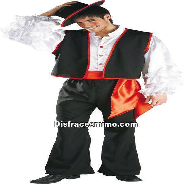 disfraz de cordobes adulto en talla unica (38-52) en el que incluye Pantalón,camisa,chaleco,fajin