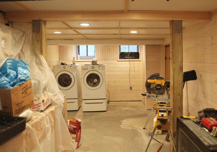 Low Ceiling Basement Ideas Beadboard Basement