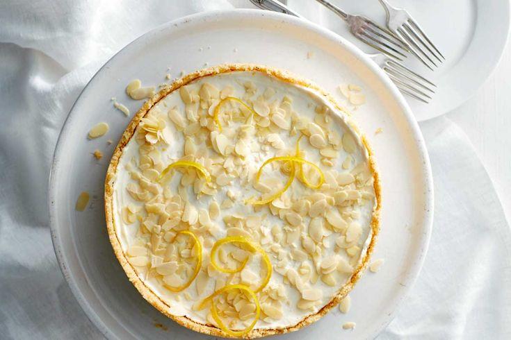 ricotta-mascarponetaart met amaretti en limoncello