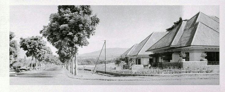 De Pasteurweg in Bandoeng 1923.