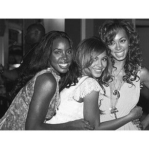 Solange celebrated the birth of Kelly Rowland's son with this cute photo of the two of them with Beyoncé. | 7 Celebrity #TBT Photos You May Have Missed This Week