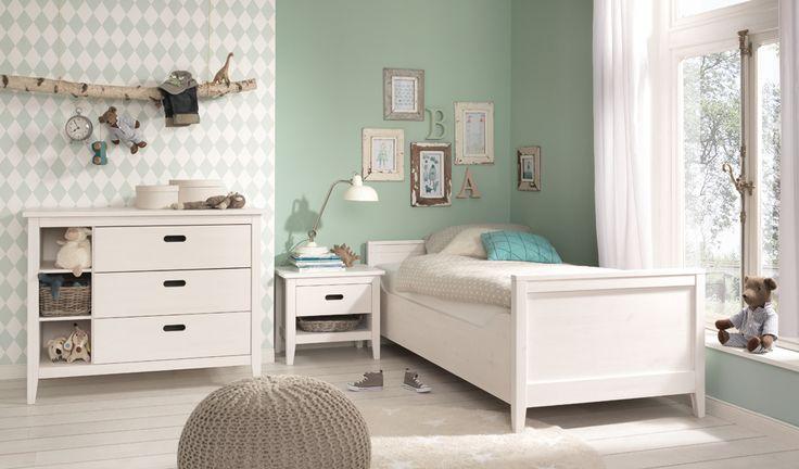 Сиело , подростковая кроватка 77322 scandinavian style скандинавский стиль ,  белая мебель детская