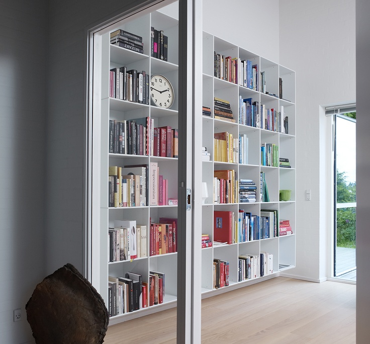 ABC shelves from Denmark from roof to ceiling. Must have!