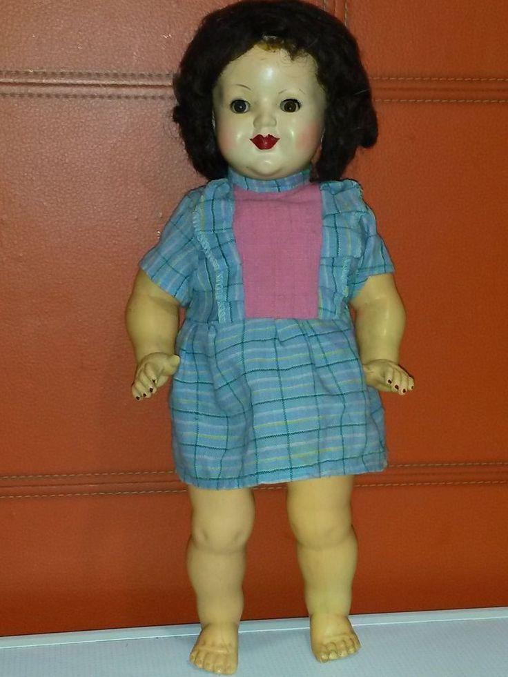 Antique doll Poland 1930-38 year. Unbranded. Celluloid rarity 38 cm 15.5 | eBay