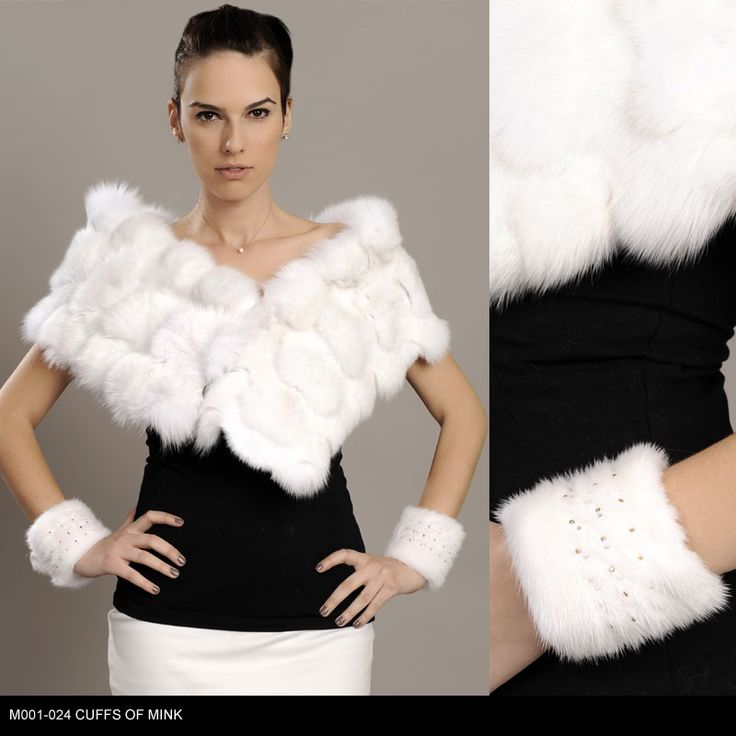 Cuffs of Mink fur. Available for wholesale orders.