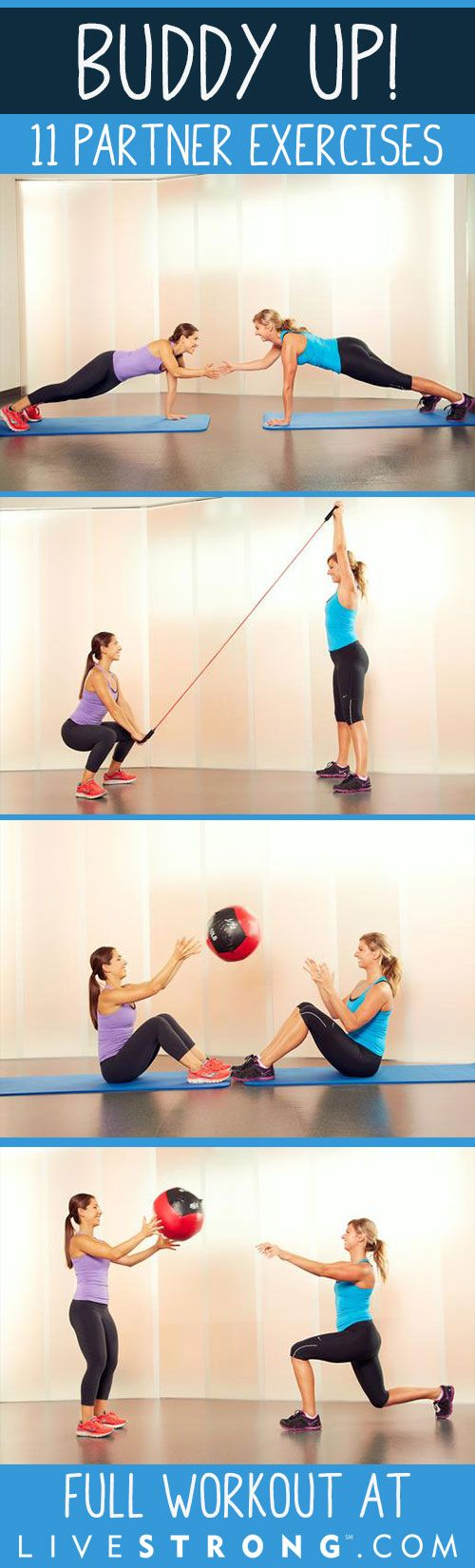Buddy Up With These 11 Exercises You Can Do With a Partner!
