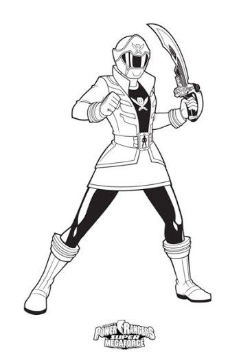 Pirate Power Ranger Coloring Page For Boys
