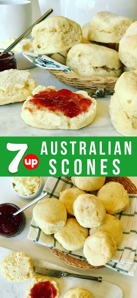 An Easy Scones Recipe made with 7 Up or Sprite. Known as Lemonade Scones in Aust…