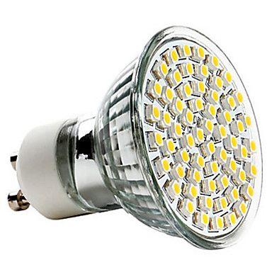 [XmasSale]GU10 2.5W 60x3528SMD 240LM 2700K Warm White Light LED Spot Bulb (220-240V) – USD $ 3.99