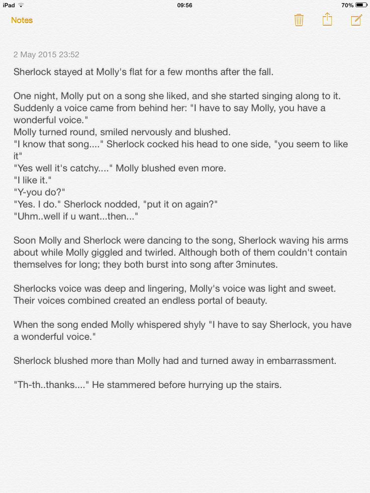 Some short sherlolly fanfiction I wrote  hope you liked it.