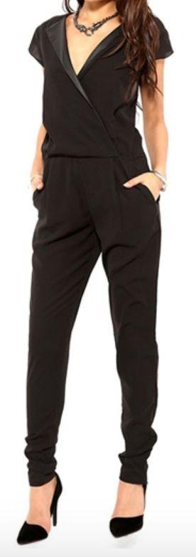 sleek black jumpsuit