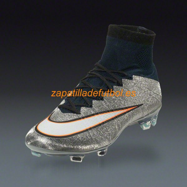 Comprar Zapatos de Futbol Nike Mercurial Superfly CR7 FG Plata Metalica