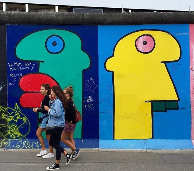 by Thierry Noir on the Berlin Wall (LP)