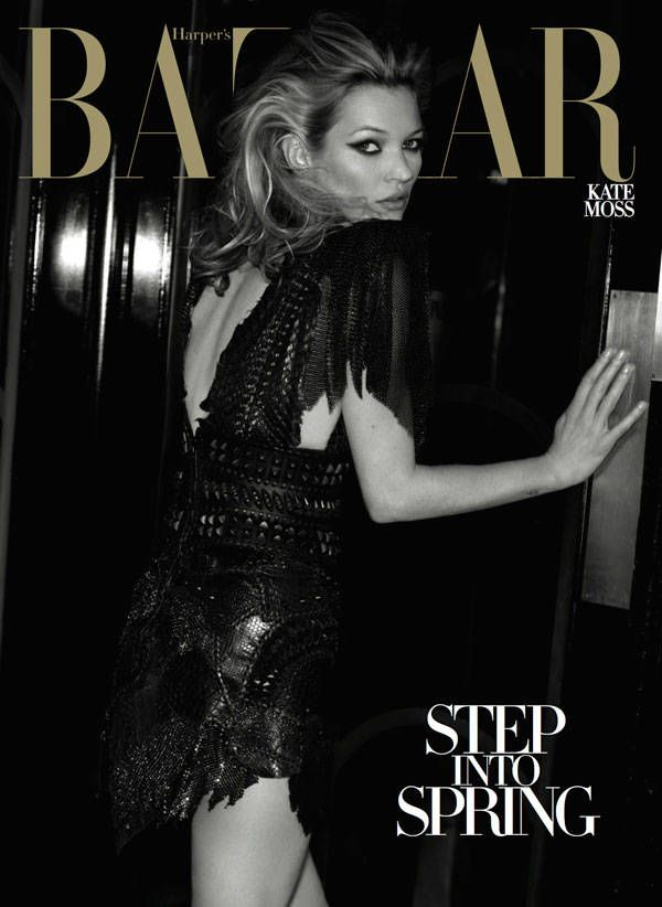 We look back at Kate Moss's gorgeous Harper's Bazaar covers. See them all here.