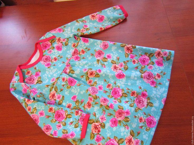 Купить Платье теплое для девочки - фуксия, цветочный, для детского сада, теплое платье, для девочки