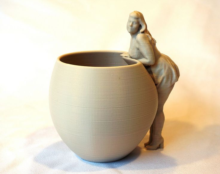 My new 3D scanned and 3D printed coffee cup. It is printed in 100% pure wood
