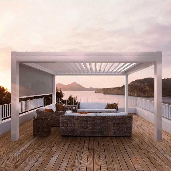 Sonnenschutz Fur Das Badezimmer Rollo Plissee Jalousien Lamellendach Lamellen Terrassenmarkisen