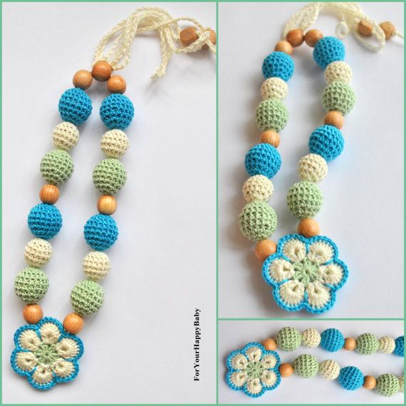 Teething necklace / Breastfeeding Necklace for door ForYourHappyBaby