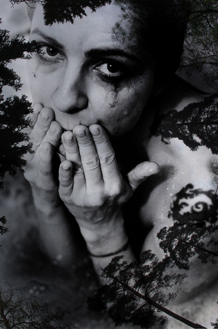 black and white, collage, ink, make up