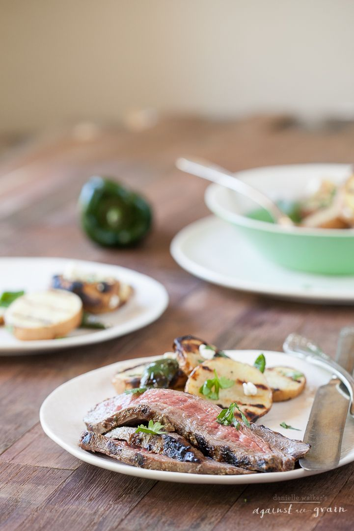 Grilled Flank Steak with Cilantro Balsamic Marinade - Danielle Walker's Against All Grain