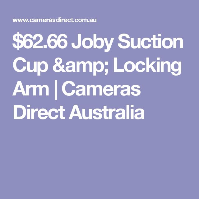 $62.66 Joby Suction Cup & Locking Arm | Cameras Direct Australia