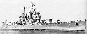 USS Amsterdam (CL-101) Cleveland-class light cruisers.  She was the last of her class to see action in WWII.