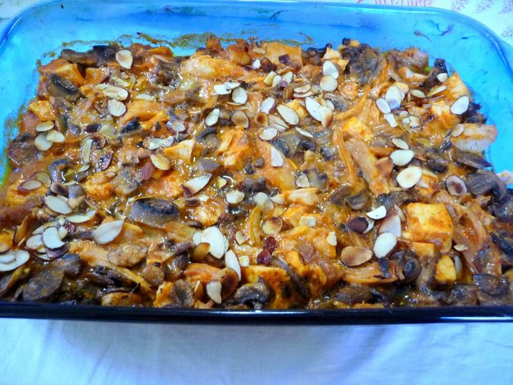 CHICKEN MUSHROOM CASSEROLE - This is a delicious South African casserole (slight curry flavor) - I have made it seemingly dozens of times! Visit us for more interesting and lovely recipes at: https://www.facebook.com/LowCarbingAmongFriends