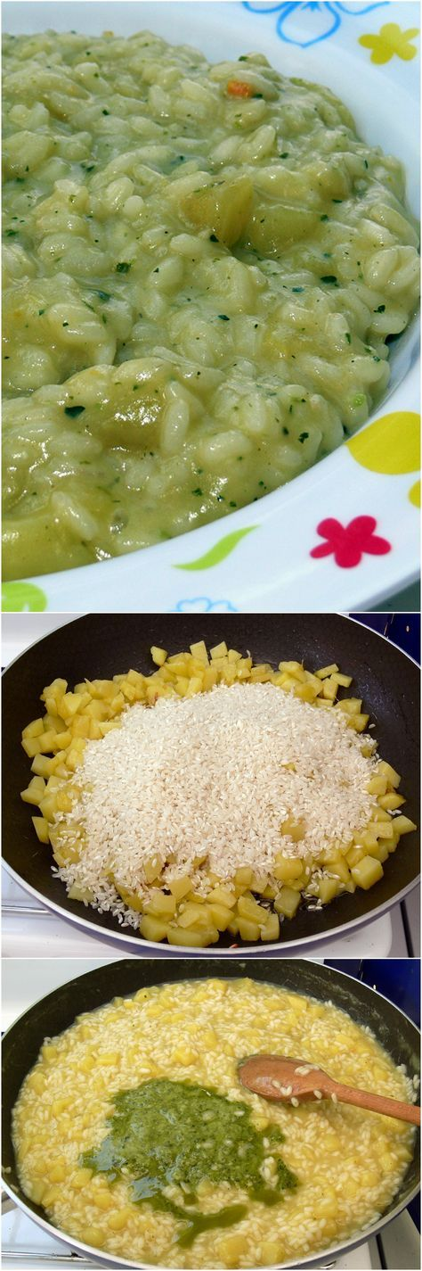 Risotto patate e pesto, un connubio gustosissimo