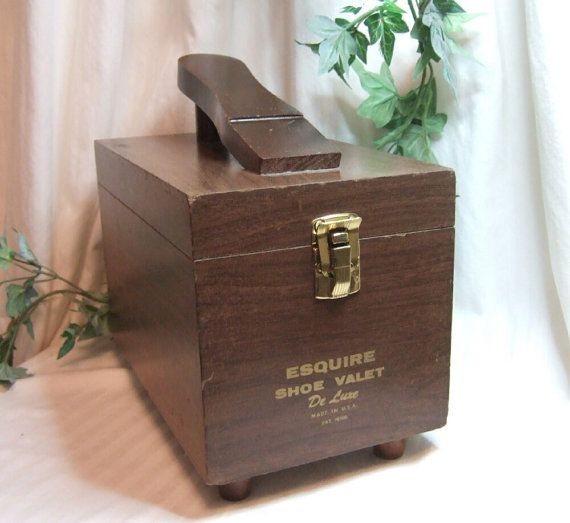 Vintage Esquire Shoe Valet De Lux shoe shine by vintagehillbillies, $29.00