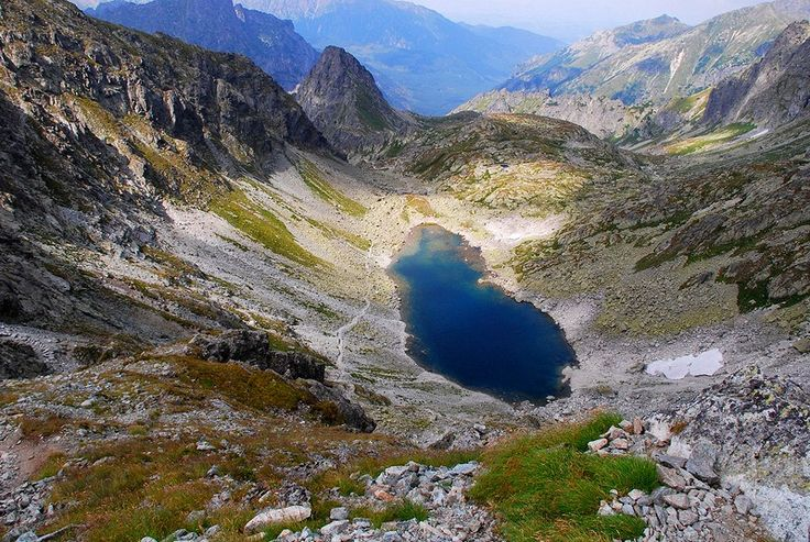 Slovakia. Mountain Pond. Swistowa valley and Zmarzly pond in High Tatras.  High Tatras are a mountain range on the borders between Slovakia and Poland.