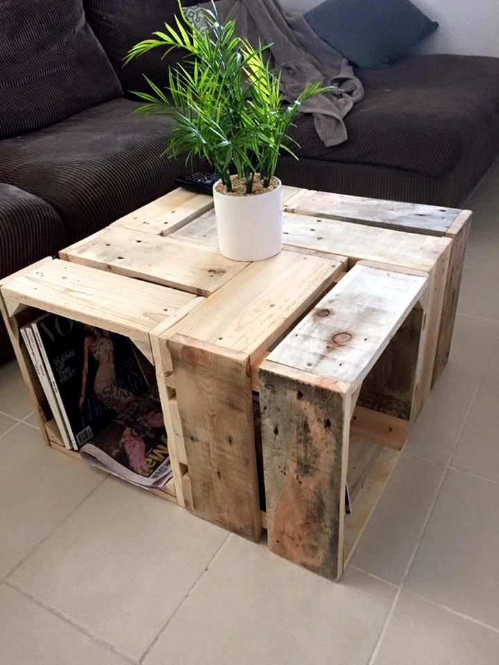Pallet Coffee Table - 30 DIY Pallet Ideas for Your Home | 101 Pallet Ideas - Part 3 Find more DIY here ---> http://fabulesslyfrugal.com/category/frugal-living/diy/