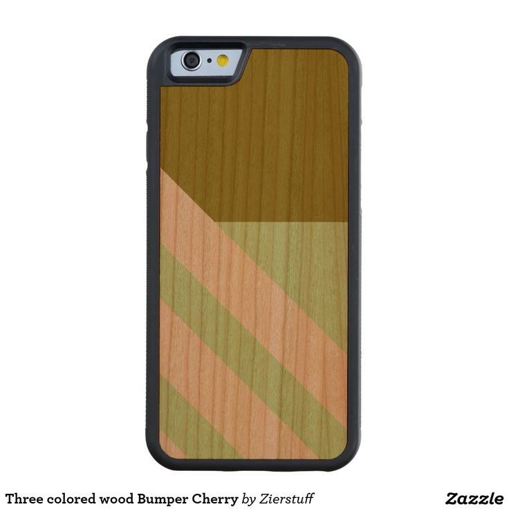Three colored wood Bumper Cherry Carved® Cherry iPhone 6 Bumper Case