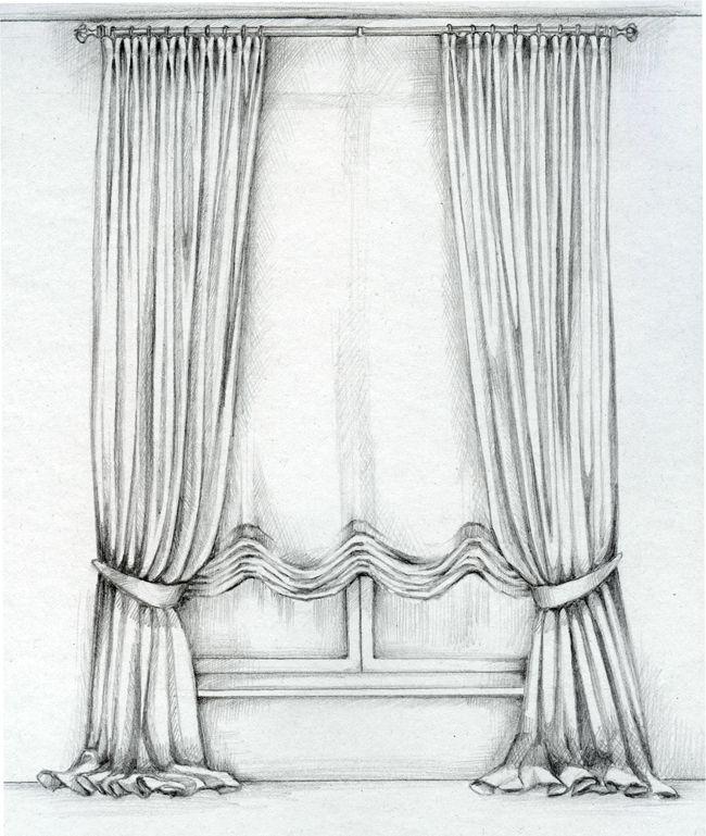 эскиз шторы