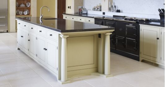 Classical Kitchen with Large Kitchen Island