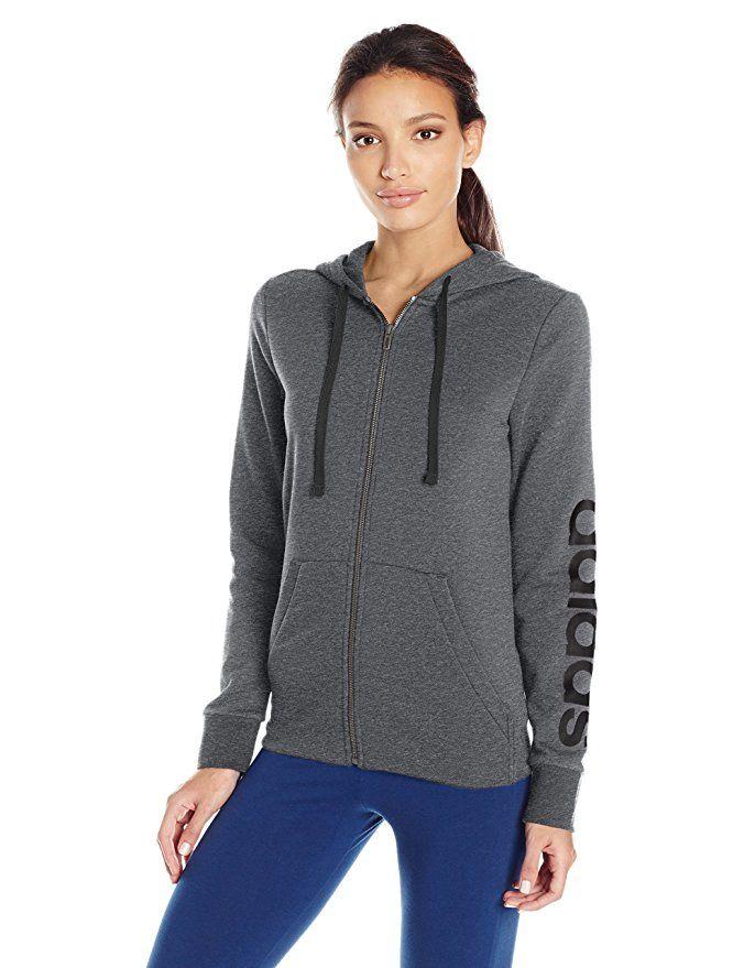 7237a5165846 adidas Women s Essentials Linear Full Zip Fleece Hoodie