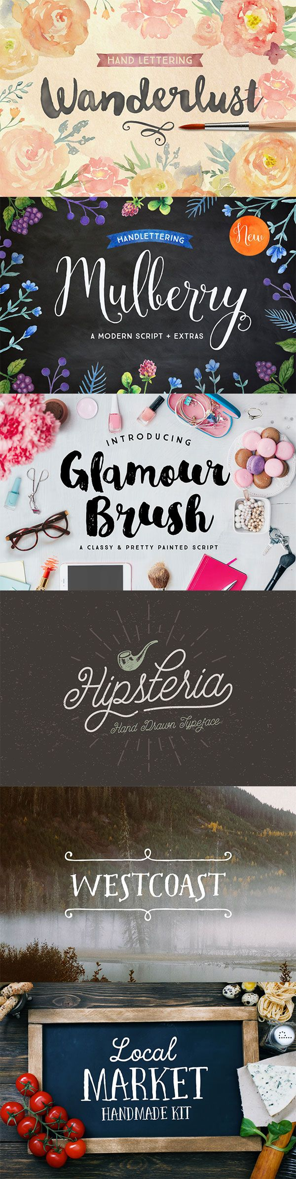 So many awesome hand-drawn fonts in our July Big Bundle! 106 great products like these for only $39! ✌