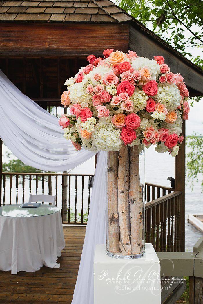 Glamorous Wedding Ideas - MODwedding - love the birch trunks